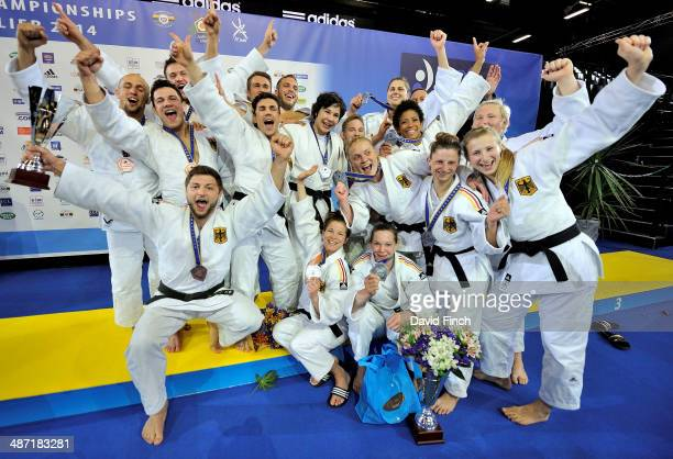 The two German teams won silver for the women and the men's team won bronze during the Montpellier European Team Judo Championships at the ParkSuites...