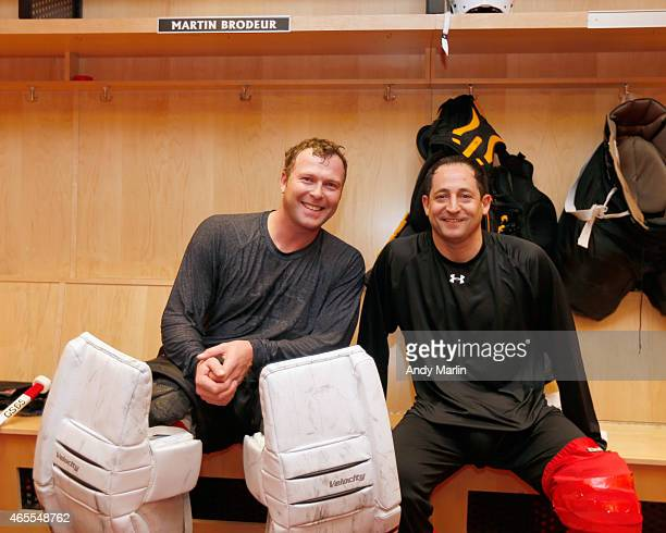 b6d52067b The two goaltenders of the New Jersey Devils 1995 Stanley Cup Championship  Team Martin Brodeur and