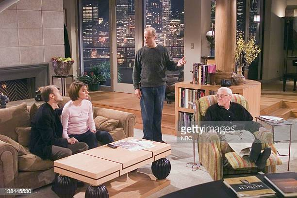 FRASIER The Two Hundredth Episode 8 Aired 11/13/01 Pictured David Hyde Pierce as Dr Niles Crane Jane Leeves as Daphne Moon Kelsey Grammer as Dr...