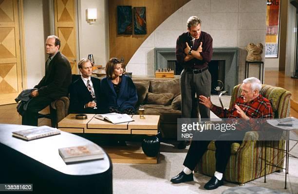 FRASIER The Two Mrs Cranes Episode 1 Pictured Kelsey Grammer as Doctor Frasier Crane David Hyde Pierce as Doctor Niles Crane Jane Leeves as Daphne...