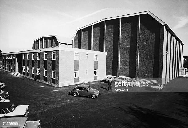 The two new L and M stages at Pinewood Studios Iver Heath Buckinghamshire circa 1970 The 600 000 stages are designed for dual film and Television use
