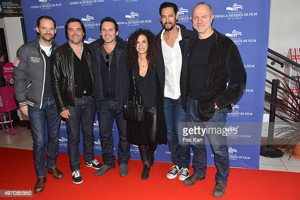 The two producers of La Vie Pure director Jeremy Banster actors Barbara Cabrita Stany Coppet and Aurelien Recoing attend the La Vie Pure Premiere...