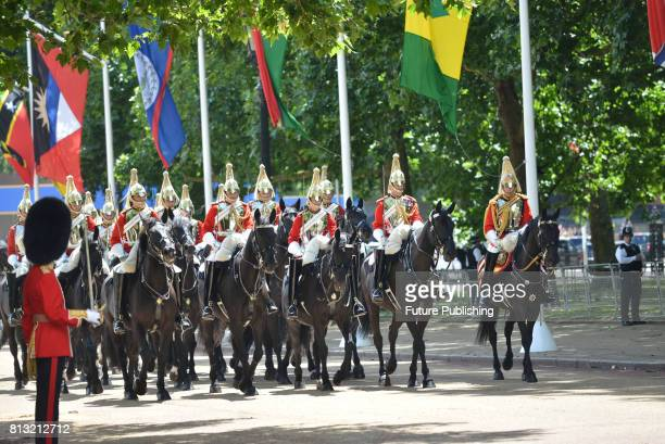 The two Royal families in procession from Horse Guards parade to Buckingham Palace on July 12 2017 in London England PHOTOGRAPH BY Matthew Chattle /...