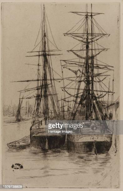 The Two Ships, 1875. Artist James Abbott McNeill Whistler.