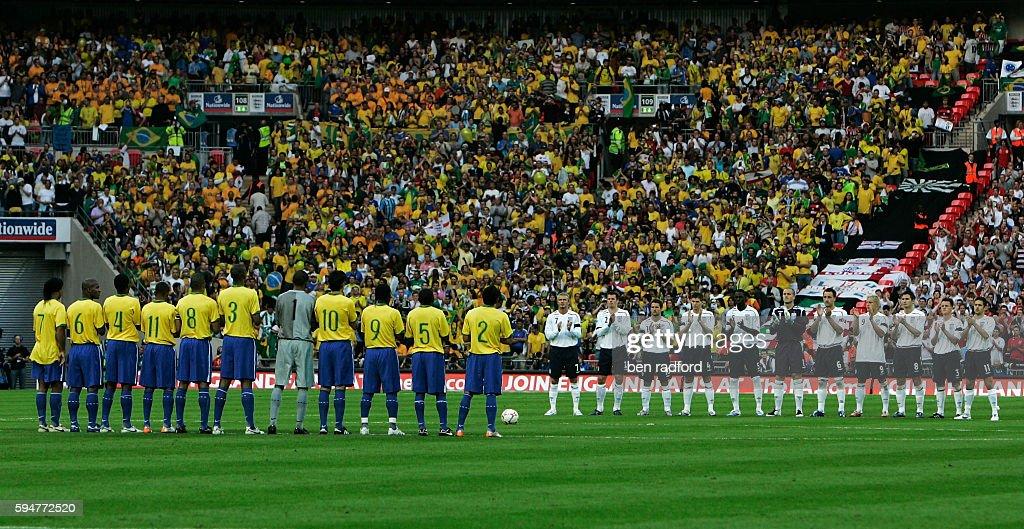 Soccer - International Friendly - England vs. Brazil : News Photo