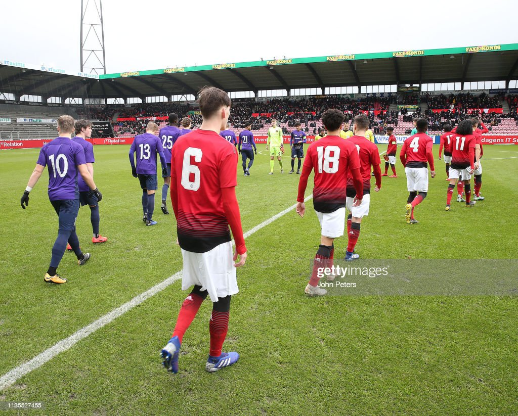 DNK: Midtjylland v Manchester United: UEFA Youth League