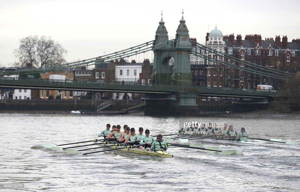 BNY Mellon Boat Race - Cambridge Trial Eights : Nachrichtenfoto
