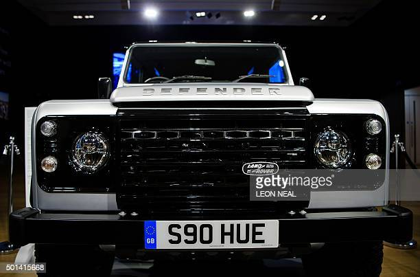 The twomillionth Land Rover Defender offroad vehicle is seen during a photocall promote the forthcoming charity auction of it at Bonhams auctioneers...