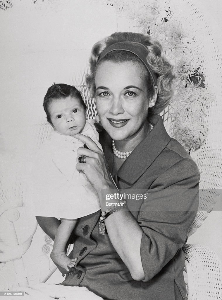 Kay Gable Holding Baby John Clark Gable : News Photo