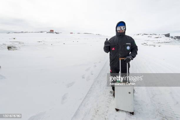 The type of suitcase that should not be carried to Antartica on November 04 2019 in King George Island Antarctica