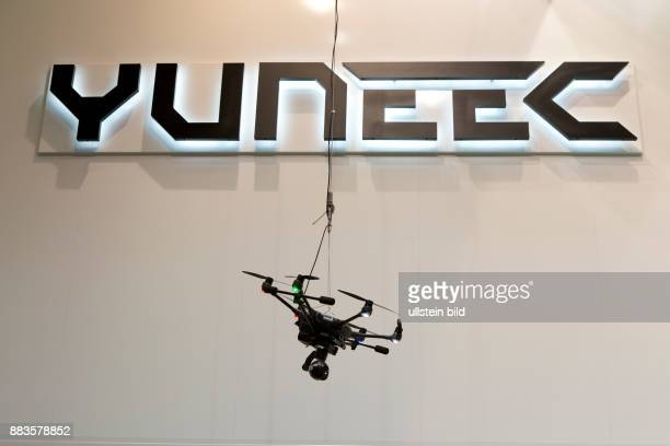 The Typhoon H drone at the Yuneec booth at the Photokina in Cologne