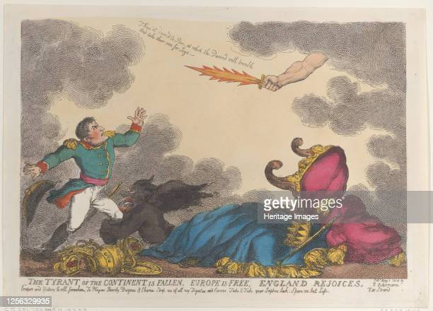 The Tyrant of the Continent is Fallen Europe is Free England Rejoices May 1 1814 Artist Thomas Rowlandson