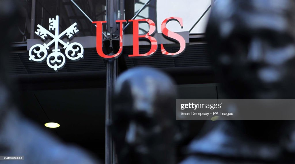 The UBS Bank in the city of London on Monday 29 October 2012