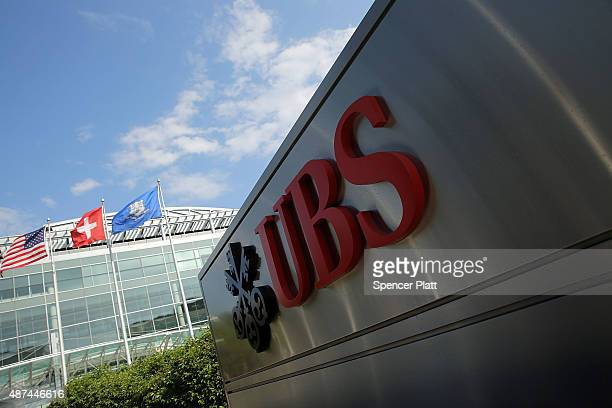 The UBS bank's Stamford headquarters is viewed on September 9 2015 in Stamford Connecticut As the global financial industry continues to shrink and...