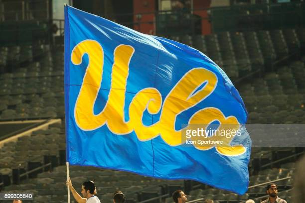 The UCLA flag during the Cactus Bowl college football game between the Kansas State Wildcats and the UCLA Bruins on December 26 2017 at Chase Field...