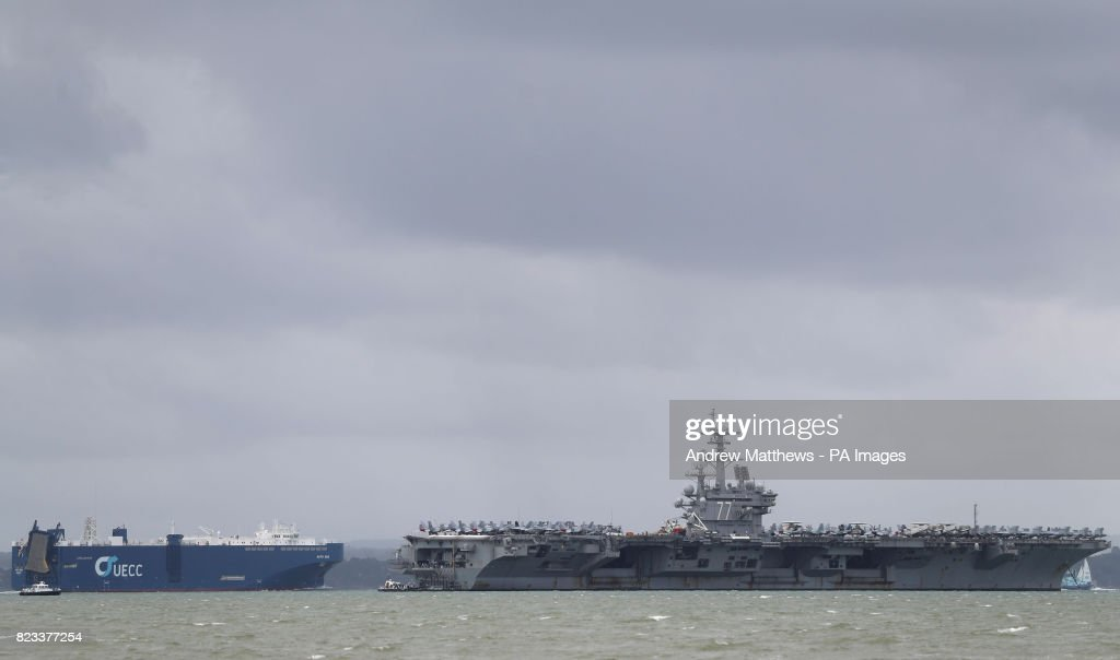 Uss George Bush In Portsmouth Pictures Getty Images