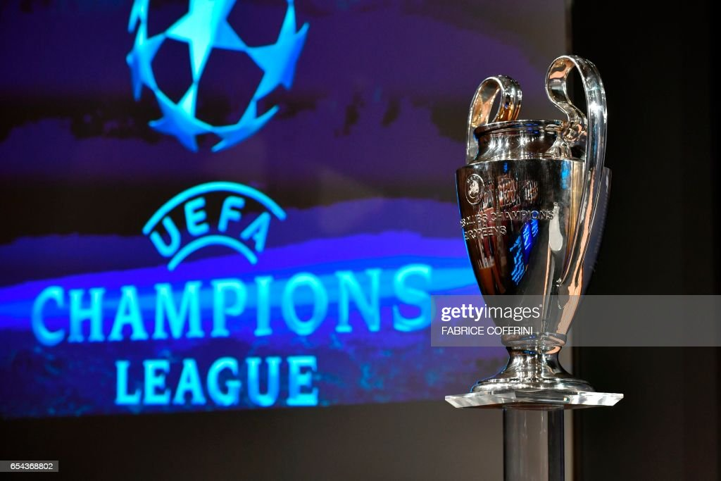 UEFA Picture: The UEFA Champions League Cup Is Pictured Prior To The