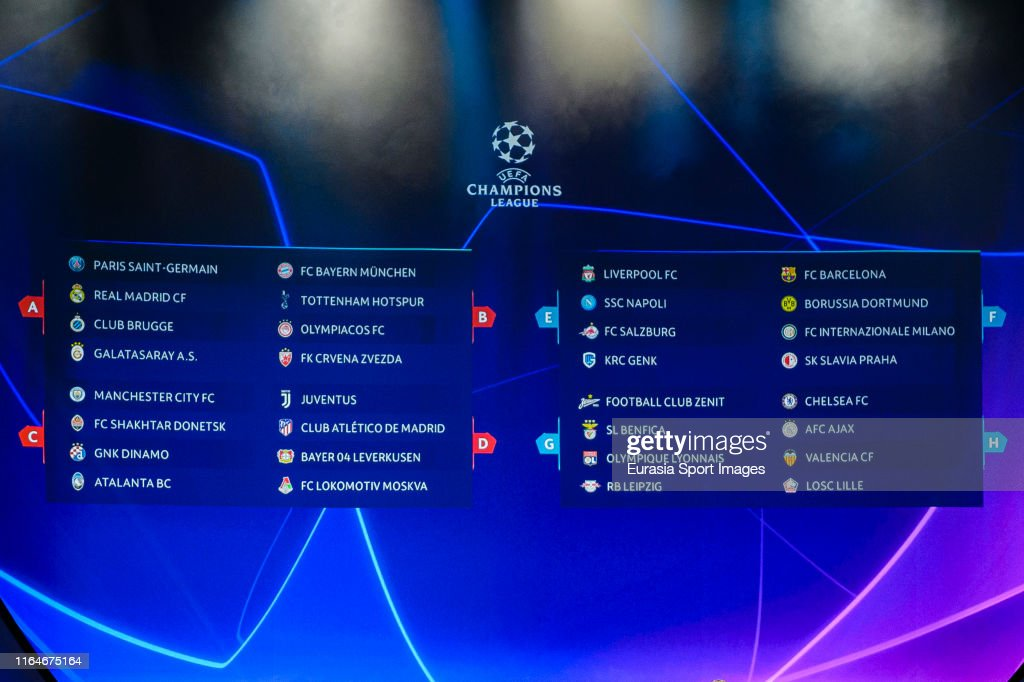 the uefa champions league groups results during the kick off news photo getty images https www gettyimages com detail news photo the uefa champions league groups results during the kick news photo 1164675164