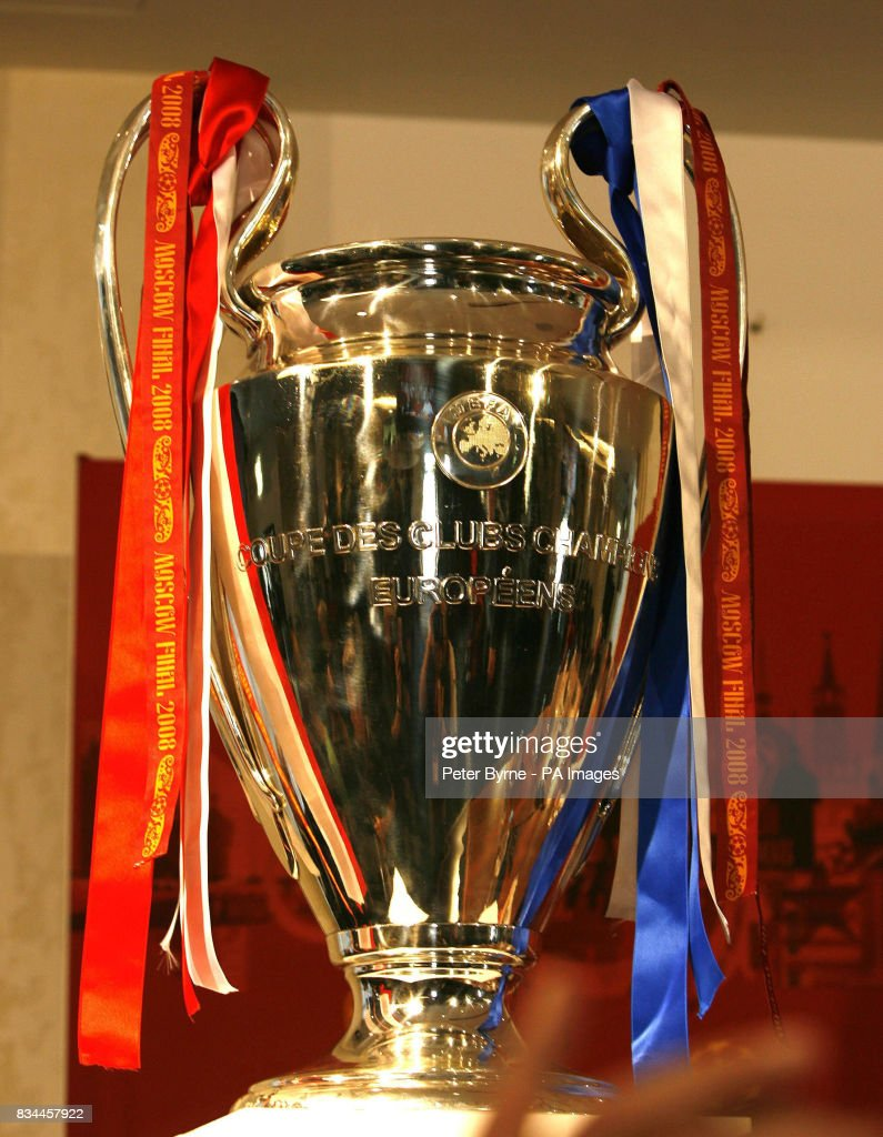 The UEFA Champions League Trophy during a press conference at the...  Nachrichtenfoto - Getty Images