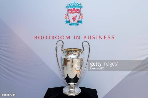 The UEFA Champions League trophy in display during the Liverpool FC's Bootroom in Business at The Upper House on July 18 2017 in Hong Kong Hong Kong