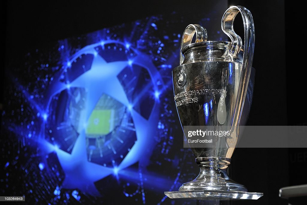 UEFA Champions League Play-Off Draw : News Photo