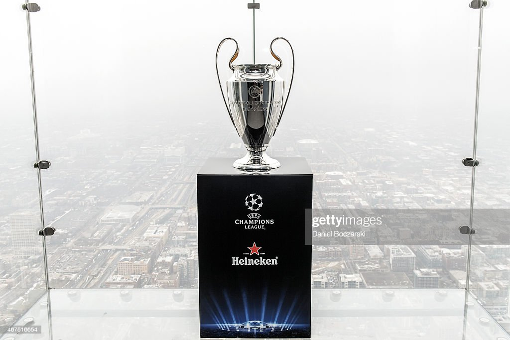 The UEFA Champions League Trophy Tour Presented By Heineken At Willis Tower Skydeck On March 25