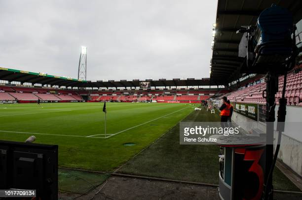 Ayo Simon Okosun of FC Midtjylland is scoring the goal to 21 between a lot of players fra New Saints in the UEFA Europa League Qual match between FC...