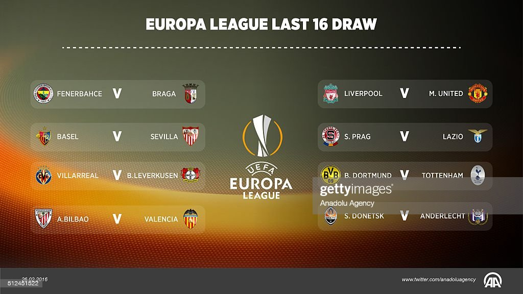 The UEFA Europa League round of 16 draw took place on ...