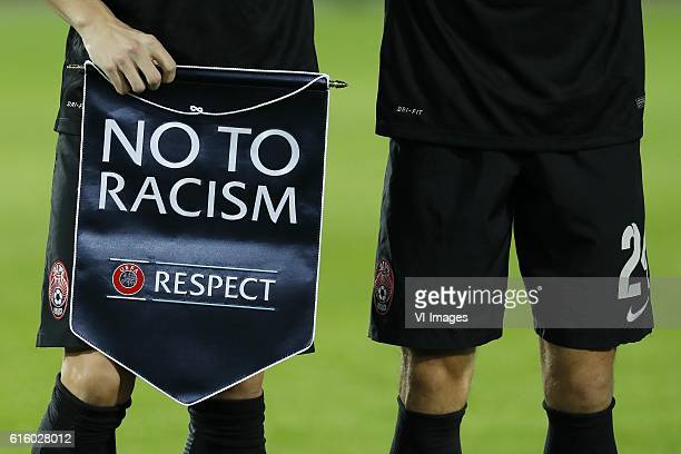 The UEFA no to Racism respect pennantduring the Europa League group A match between Feyenoord and Zorya Luhansk on October 20 2016 at the Kuip...