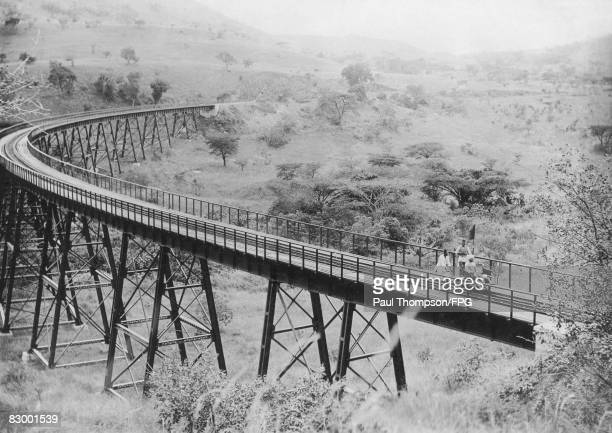 The Uganda Railway circa 1915 Built by the British Government during the colonial period it linked the interior of Uganda to the Kenyan coast at...