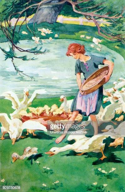 The Ugly Duckling Colour illustration by Helen Stratton from the book Hans Andersen's Fairy Tales published c1930