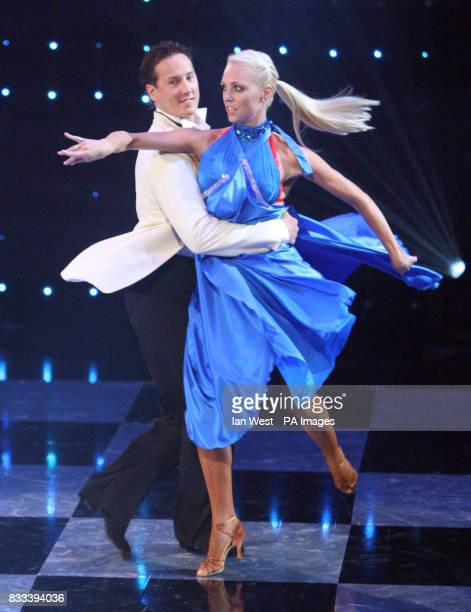 The UK entry Brendan Cole and Camilla Dallerup dancing at the Eurovision Dance contest at the BBC Television Centre in London