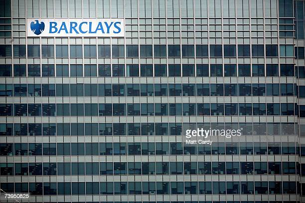 The UK headquarters of Barclays Bank stands in Canary Wharf on April 23 2007 in London. It is reported that Dutch bank ABN Amro have accepted...