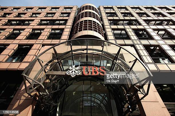 The UK headquarters of the Swiss banking group UBS after it was announced that unauthorised trades by an investment banker had cost the bank 13...