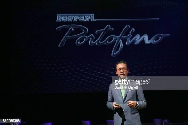 The UK launch of the Ferrari Portofino at Kensington Olympia on November 29 2017 in London England