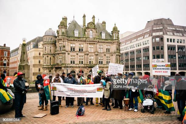 The 'UK Togolese Diaspora High Council For Democracy and Change' holds a peaceful demonstration outside Birmingham Town Hall, protesting the...