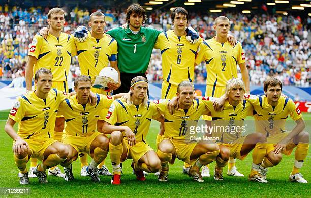 The Ukraine team line up for a group photo prior to the FIFA World Cup Germany 2006 Group H match between Saudi Arabia and Ukraine played at the...