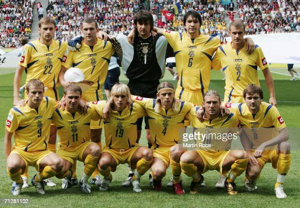 The Ukraine team line up for a group photo prior to the FIFA World Cup Germany 2006 Group H match between Ukraine and Tunisia played at the Olympic...
