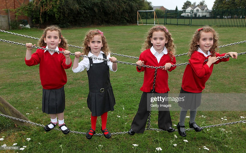 The Uks Only Identical Quadruplets Ellie Carles Holly Carles