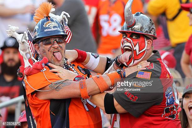 The Ultimate Broncos fan and Big Nasty aka Keith Kunzig during the regular season game between the Denver Broncos and the Tampa Bay Buccaneers at...