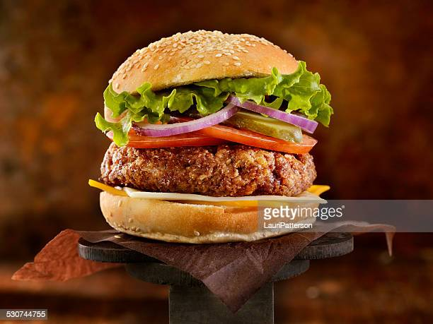 the ultimate cheeseburger - hamburger stock pictures, royalty-free photos & images