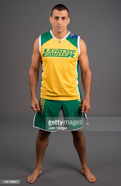 The Ultimate Fighter coach George Sotiropoulos poses for a photo during a portrait session on July 15 2012 in Sydney Australia