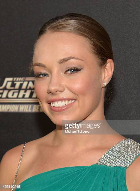 The Ultimate Fighter contestant Rose Namajunas attends FOX Sports 1's The Ultimate Fighter Season Premiere Party at Lure on September 9 2014 in...