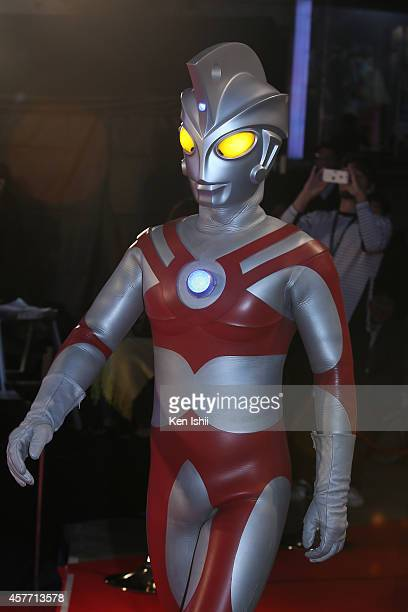The Ultraman arrives at the opening ceremony during the 27th Tokyo International Film Festival at Roppongi Hills on October 23 2014 in Tokyo Japan