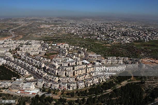 The ultraOrthodox Jewish neighborhood of Ramat Shlomo the latest Israeli development on land it captured from Jordan in the 1967 Six Day War is seen...