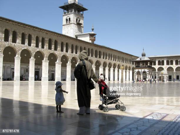 the umayyad mosque, syria, damascus - argenberg stock pictures, royalty-free photos & images
