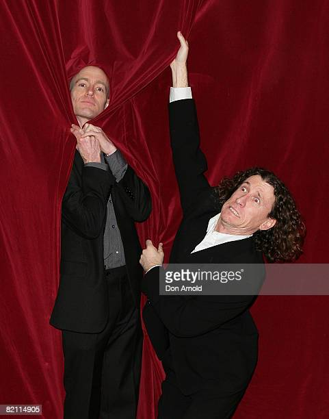 The Umbilical Brothers attend the after party for the 2008 Helpmann Awards at Star City's Lyric Theatre on July 28, 2008 in Sydney, Australia.