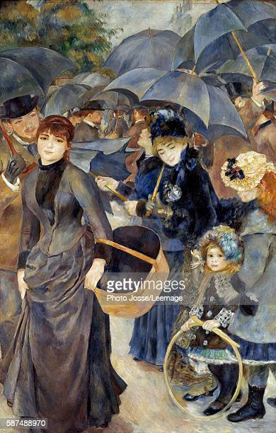 The umbrellas Painting by PierreAuguste Renoir 18811886 180 x 114 m National Gallery London