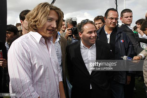 The Ump Campus In Royan France On September 06 2008 Jean Sarkozy Xavier Bertrand