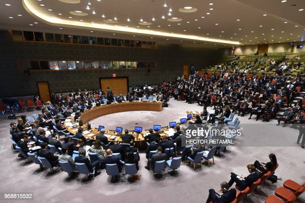 The UN Security Council gathers during a meeting on May 15 at UN Headquarters in New York The US ambassador to the United Nations on Tuesday told an...